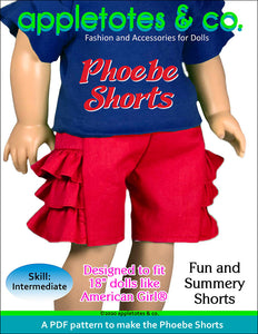 Phoebe Shorts 18 Inch Doll Sewing Pattern