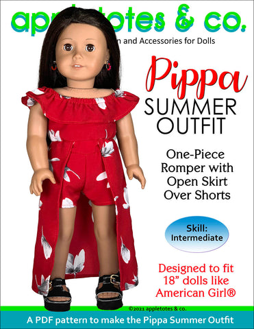 Pippa Summer Outfit 18 Inch Doll Sewing Pattern