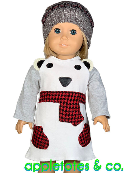 Polar Bear Dress 18 Inch Doll Sewing Pattern