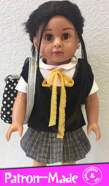 "Prep School Uniform Sewing Pattern for 18"" Dolls"