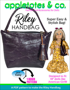 Riley Handbag 18 Inch Doll Pattern