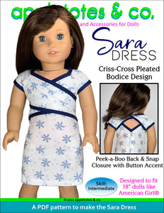 Sara Dress 18 Inch Doll Sewing Pattern