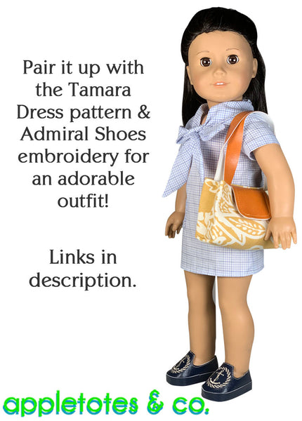 Snappy Handbag Sewing Pattern for 18 Inch Dolls