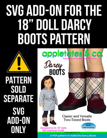 SVG Add On: Darcy Boots for 18 Inch Dolls