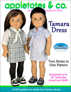 Tamara Dress Sewing Pattern for 18 Inch Dolls