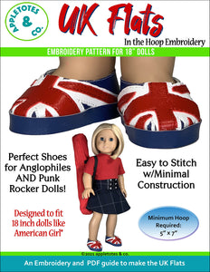 UK Flats 18 Inch Doll ITH Embroidery Pattern