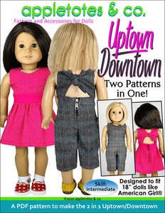 Uptown Downtown Sewing Pattern for 18 Inch Dolls