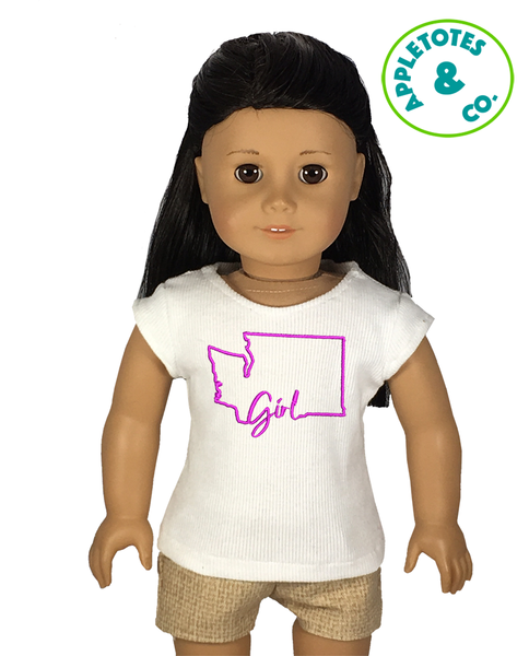 "Washington Girl Machine Embroidery File for 18"" Dolls"