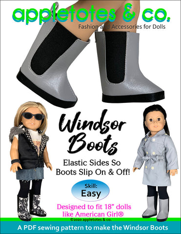 Windsor Boots 18 Inch Doll Sewing Pattern
