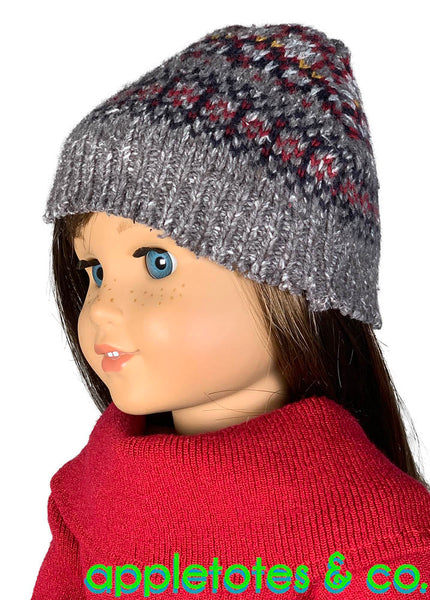 Free Winter Beanie Hat 18 Inch Doll Sewing Pattern
