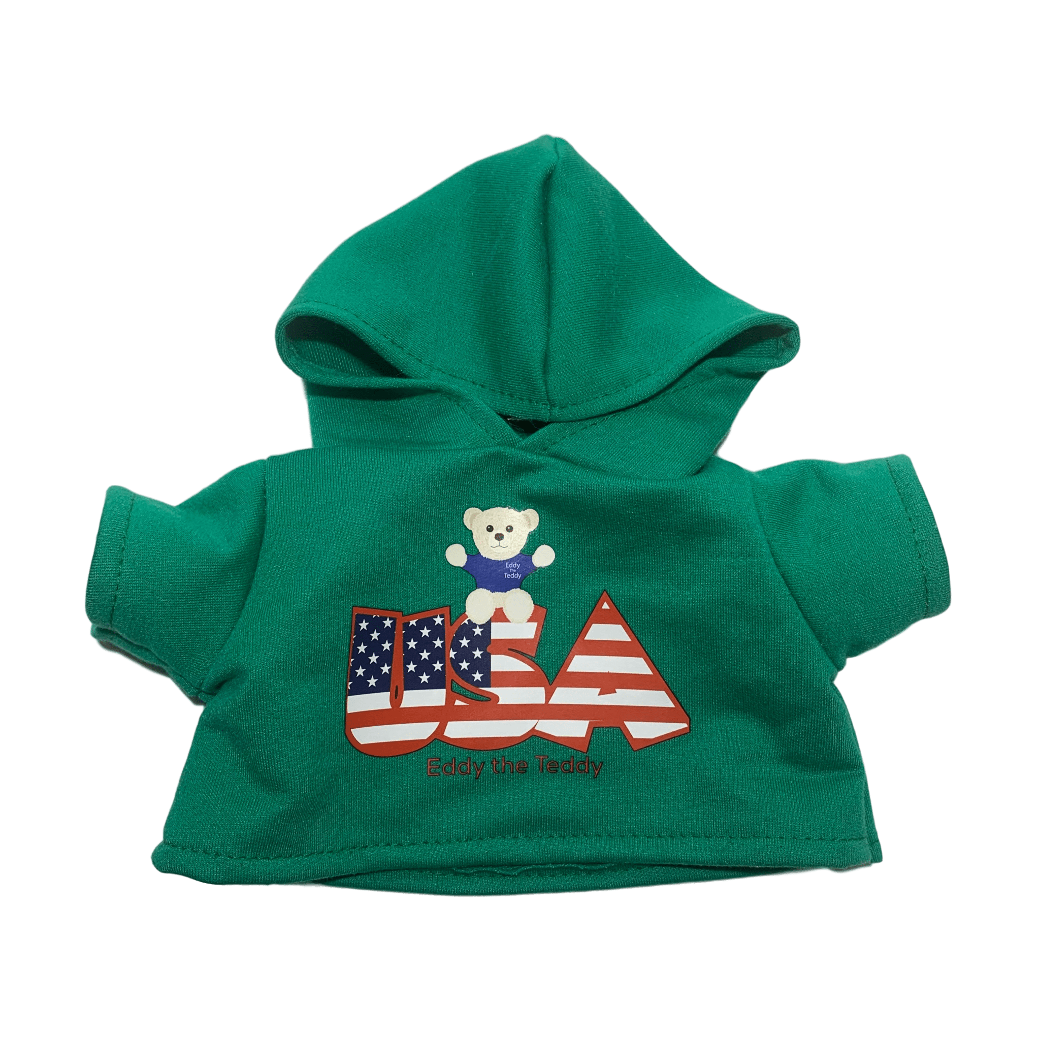 Green USA Eddy the Teddy Hoodie