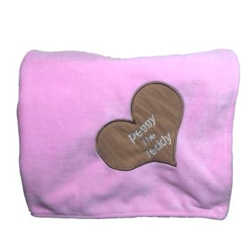 Pink teddy bear blanket