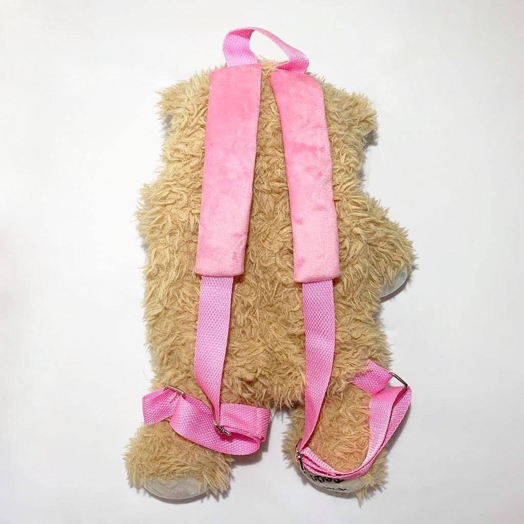 Girl teddy bear backpack