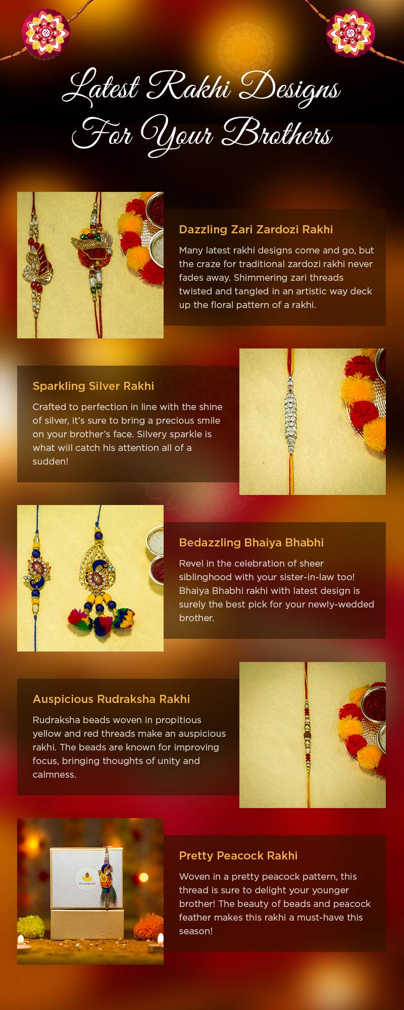 Rakhi for Raksha Bandhan Infographic