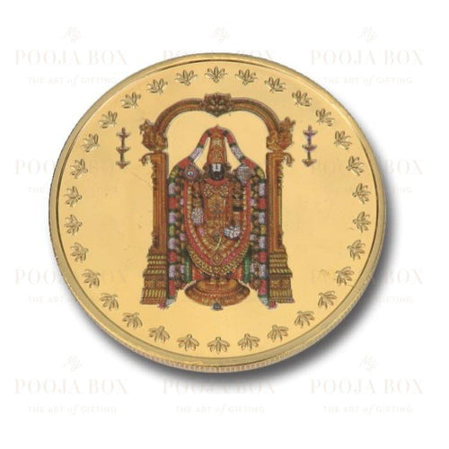 24K Gold Foil Balaji Coin & Bar