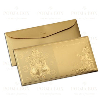 24K Gold Foil Ganesha Sagan Envelope (Set Of 12)