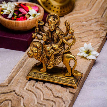 Beautiful Mata Rani Goddess Durga Brass Idol