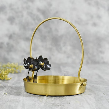 Exquisitely Handcrafted Antique Flower Basket/Pooja Thali
