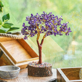 Amethyst Gemstone Money Tree