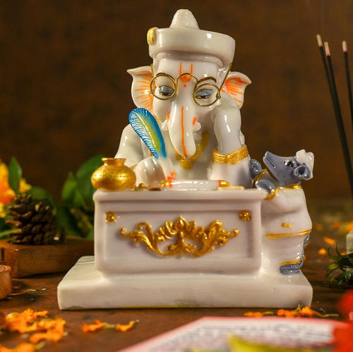 Holy Texts By Lord Ganesha Idol