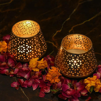 Nudara Votive Tlight Holder (Set Of 2)