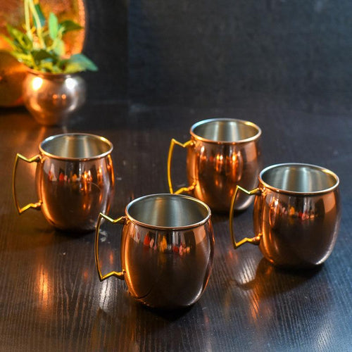 Magnificient Moscow Mule Copper Mugs (Set of 4)