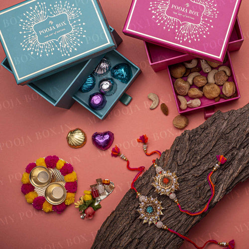 Charming Colorful Rakhi Gift Box