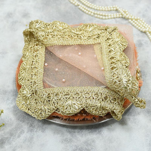 Rose Pink Beaded Thali Cover