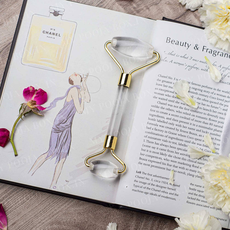Clear Quartz Facial Massage Roller