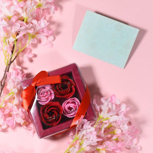 Soap Flower With Love Gift Box