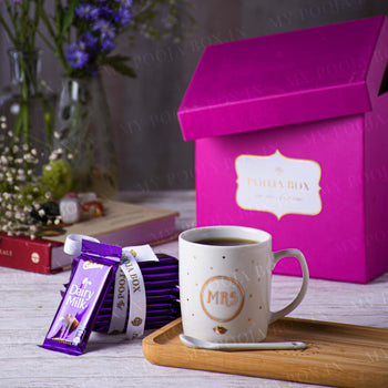 Mrs. Coffee Mug Gift Box with Chocolates - Valentine's Day Gift for Her