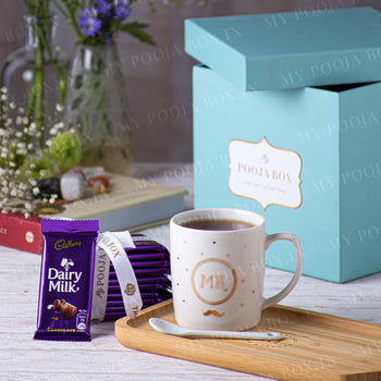 Mr. Coffee Mug Gift Box with Chocolates - Valentine's Day Gift for Him