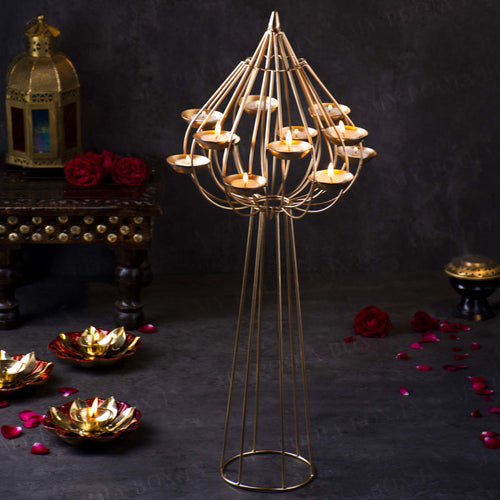 Stunning Brass Incense Holder with Latticework