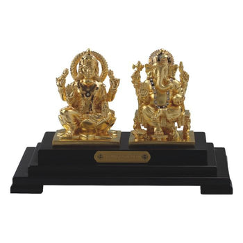 24K Gold Foil Ganesha Laxmi Pair Window
