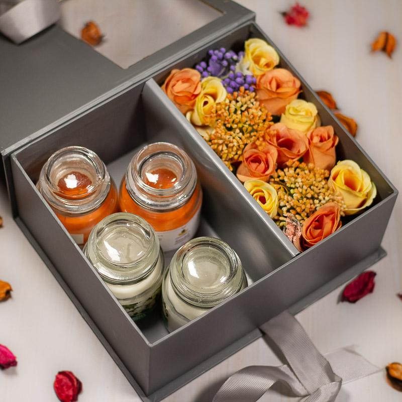 My Belle Flora Gift Box With  Scented Candles