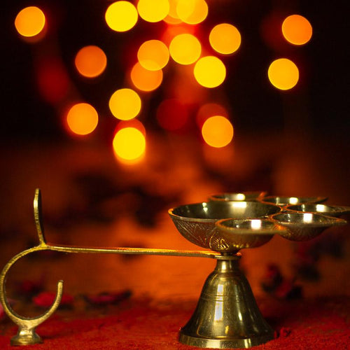 Panch Aarti Diya (Brass)