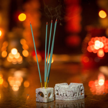Marvellous Multipurpose Incense Stick Holder with Elephant Carving