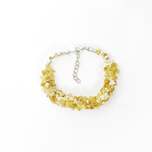 Citrine Crystal Healing Bracelet | Stone for Wealth & Protection