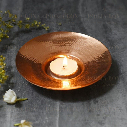 Aira Copper Tlight Set Of 2 Tlight