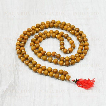 Auspicious Sandalwood Rosary/mala For Meditation Pooja Items
