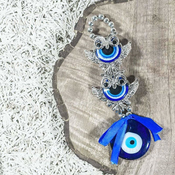 Blue Fengshui Owl (Evil Eye Car Hanging) Feng Shui