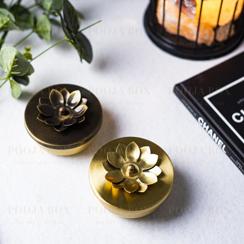 Brass Zahra Nut Case ( Set Of 2 ) Home Decor