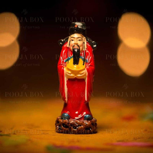 Colourful Feng Shui Fuk Luk Sau Clay Statue
