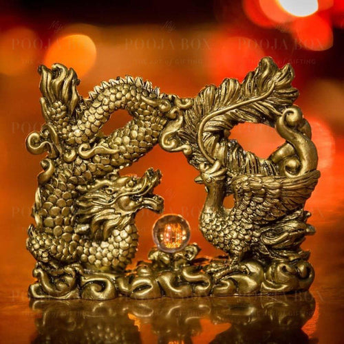 Decorative Feng Shui Dragon Crystal Ball Showpiece