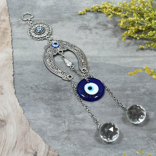 Evil Eye Horseshoe Good Luck Hanging Evil Eye