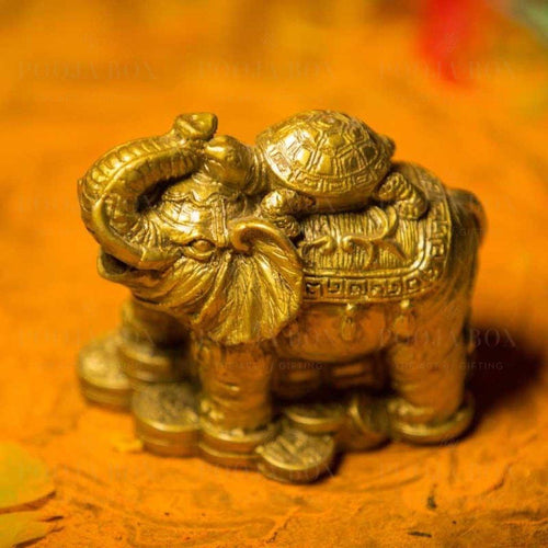 Feng Shui Elephant With Tortoise For Wealth And Success
