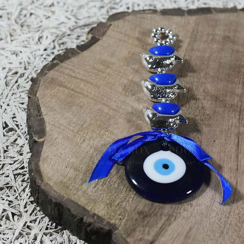 Feng Shui Evil Eye Three Fish Wall Hanging Charm