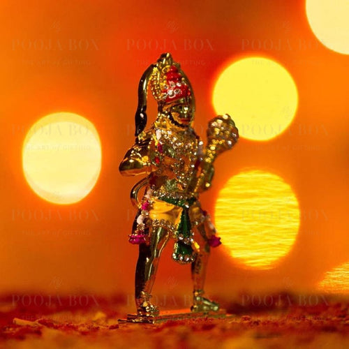Golden Metal Lord Hanuman Idol Idols