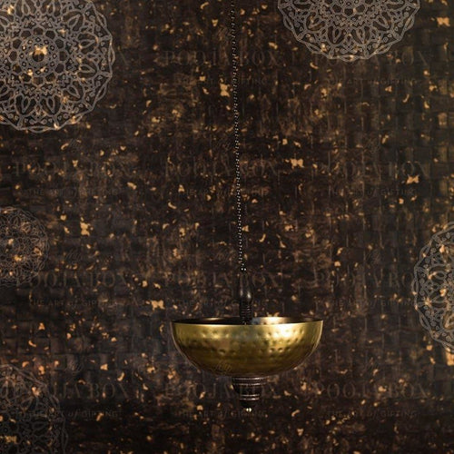 Handcrafted Antique Brass Finish Hanging Urli Limited Edition