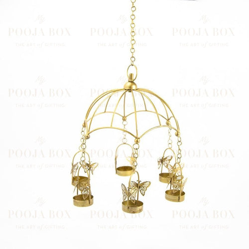 Hanging Bird Cage T-Light Holder Candle